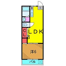 YUTAKAMANSION[3階]の間取り