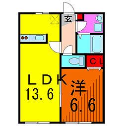東京都葛飾区南水元2丁目の賃貸マンションの間取り