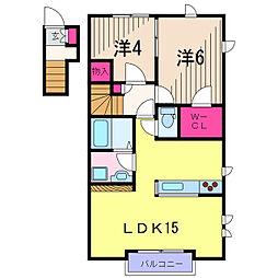 リーベル・トレース亀有[2階]の間取り