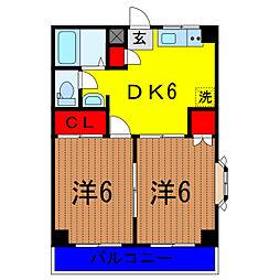 東京都足立区東和1丁目の賃貸マンションの間取り