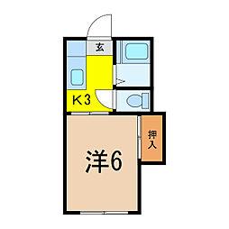 KEIハイム[2階]の間取り