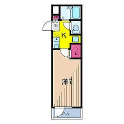 ルネコート青砥[2階]の間取り