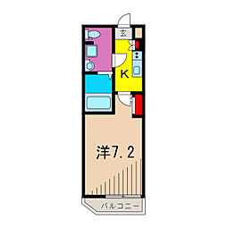 (仮称)レオーネ亀有WEST 1階1Kの間取り