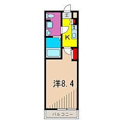 (仮称)レオーネ亀有WEST 3階1Kの間取り