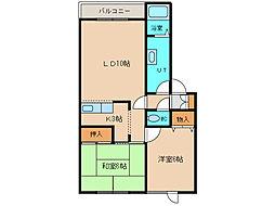 北海道函館市西桔梗町の賃貸アパートの間取り