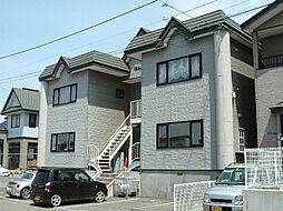 北海道函館市西桔梗町の賃貸アパートの外観