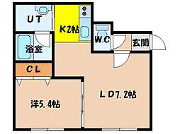 北海道函館市亀田町の賃貸マンションの間取り