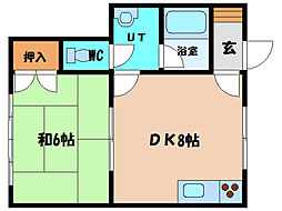 北海道北斗市七重浜2丁目の賃貸アパートの間取り