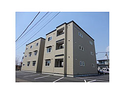北海道函館市桔梗4丁目の賃貸アパートの外観