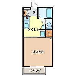 イーストコート[1階]の間取り