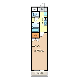 KURIMAマンション[4階]の間取り