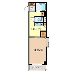 サンロイヤル東丸之内[4階]の間取り