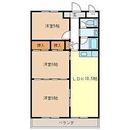島崎ハイツ[5階]の間取り