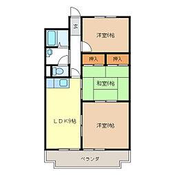 桜橋ハイツ[604号室]の間取り