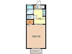 サンハイツ藤方[2階]の間取り