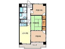 西丸之内パークマンション[5階]の間取り