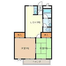 シティルネッサンス久居[2階]の間取り