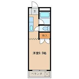 江戸橋ロイヤルハイツ[302号室]の間取り
