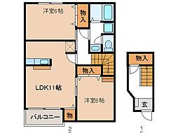 花領下(HANARYOUKA)[2階]の間取り