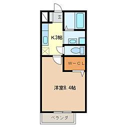 サンモール小森[1階]の間取り