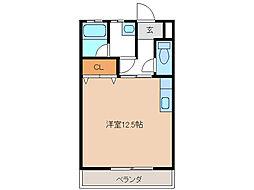 アメニティーコーポ[2階]の間取り