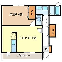 クレールI・II・III[1階]の間取り