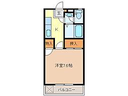 江戸橋パレス[3階]の間取り