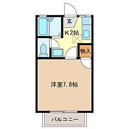 PADY COURT[2階]の間取り