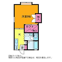 アコーダンス松田[1階]の間取り