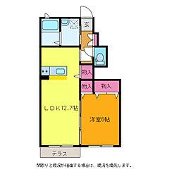 ディアコート青山[A102号室]の間取り