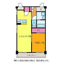ファーストクラス寺尾[4階]の間取り