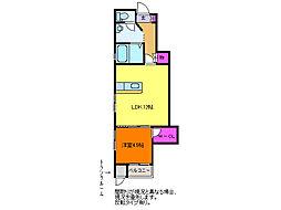 サンハイム寺尾駅[1階]の間取り