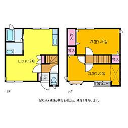 新潟県新潟市西区内野西2丁目の賃貸アパートの間取り