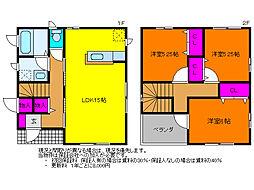 [一戸建] 新潟県新潟市西区小針藤山 の賃貸【/】の間取り