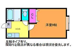 ハイツ江北[1階]の間取り