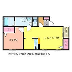 新潟県新潟市西区寺地の賃貸アパートの間取り