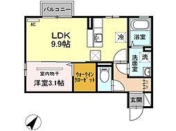 ラ・ランド上新栄A[A102号室]の間取り