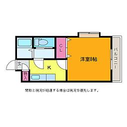 ジョイフル坂井[1階]の間取り