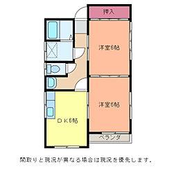 京ハイツ[1階]の間取り