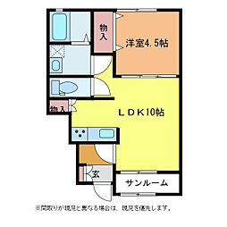 キアマーレ[1階]の間取り