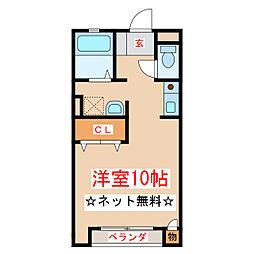 JR指宿枕崎線 坂之上駅 徒歩25分の賃貸アパート 1階ワンルームの間取り
