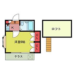 泉第2[1階]の間取り