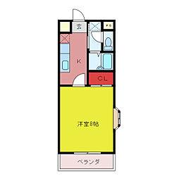 パークプラザI[1階]の間取り