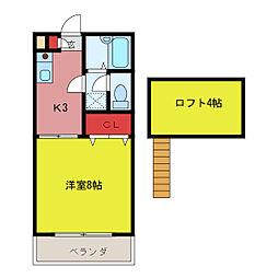 メゾン小塚[2階]の間取り