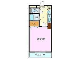 ロイヤルキャビン井坂[305号室]の間取り