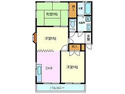 平沢ハイツA B[A201号室]の間取り