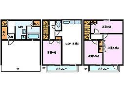 [テラスハウス] 静岡県三島市長伏 の賃貸【/】の間取り