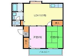 富士見ハイツ[2階]の間取り