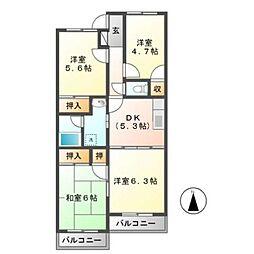 リヴァティーマンション[1階]の間取り