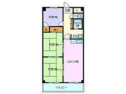 ベルシャイン竹原A棟[5階]の間取り